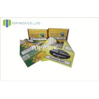 Cheap Yellow Custom Herbal Incense Bags , Hand Roll Plastic Tobacco Pouch With Ziplock wholesale