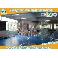 China Transparent 1.5m Inflatable Hamster Footall Zorb Rolling Ball With Various Color Strings, Straps and Handles wholesale