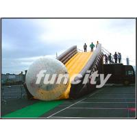 China 0.55mm PVC Tarpaulin Inflatable Zorbing Ramp with Long Slide Inflatable Zorb Ball wholesale