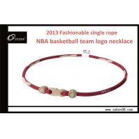 Cheap Personalized Basketball Titanium Twisted Braided Rope Necklace Elastic Eco-friendly wholesale