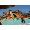 Cheap Children Fiberglass Water Slides Combination Water Slide For Holiday Resort wholesale