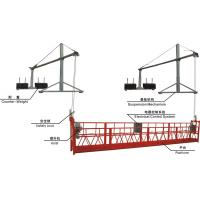 Cheap ZLP800 Aluminum Suspended Working Platform with Steel Rope 6*19W+IWS-8.6 wholesale