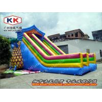 Cheap Outdoor Pool Pineapple Tree Inflatable Dry Slide 12 X 4m CE wholesale