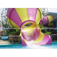 China Small fiberglass water slide for parents and kids interaction water fun wholesale