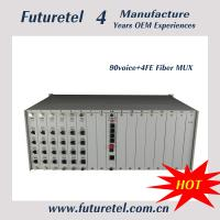 e1 to 10/100M Ethernet 90 channel voice and 4channel data rs232/422/485 fiber optic network equipment.