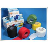 Cotton Athletic Trainers Tape / Medical Adhesive Sport Injury Rigid Ankle Strapping Tape