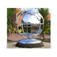 China Metal World Globe Map Stainless Steel Sculpture For Public Decoration wholesale