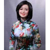 Buy cheap life-size Chinese lady deng lijun sitting pose wax figure for museum from wholesalers