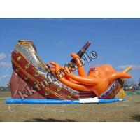 Cheap Pirate Ship octopus Slide Inflatable Dry Slide For Event Party Rentals wholesale