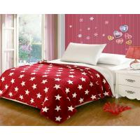 China Red Five Pointed Star Flannel Fleece Blanket With Customized Designs wholesale