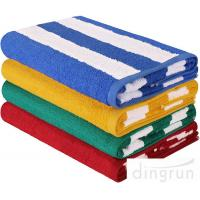 """China Stripe Cotton Bath Towels Plain Woven 30 """" X 60 """" High Absorbency For Swimming wholesale"""