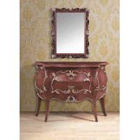 Cheap Elegant Artificial Antique Furniture Brown Console Table With Square Mirror wholesale