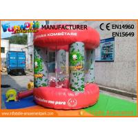 China Red PVC tarpaulin Advertising Inflatables / Cash Machine Inflatable Money Booth wholesale