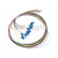 LC / UPC SM 12 Core Single Mode Fiber Optic Cable Color Coded Fiber Optic Pigtail