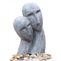 China Long Face Figure Outdoor Resin Garden Fountains Decor OEM Acceptable wholesale