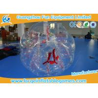 China Clear Inflatable Bubble Ball Red Straps Adults Inflatable Belly Ball Bump Bubbles with CE wholesale