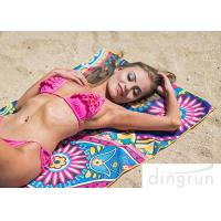 China Microfiber Material Custom Beach Towel Printing Super Fast Drying Outdoor wholesale