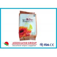 China White Color Baby Wipes Alcohol Free With Standard Disposable Spunlace Nonwoven wholesale