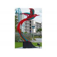 China Custom Modern Painted Public Art Stainless Steel Flying Bird Sculpture wholesale