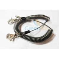 China Heavy Duty Coil Tool Lanyard , High Security Coiled Security Tethers Load 15KG wholesale