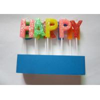 Shining Rainbow Letter Birthday Candles 13 Pcs / 16.6G With Topper Picks