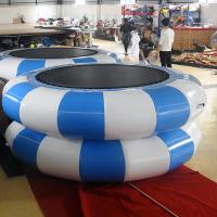 Buy cheap Green And Yellow Inflatable Jumpers / Inflatable TrampolineFor Children Or Adults from wholesalers