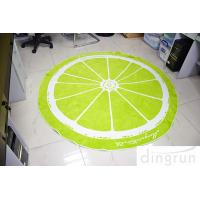China Jacquard Round Beach Towels Luxury Size Lemon Lolor 180*180cm wholesale