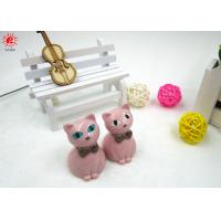 Cheap Unique Pink Resin Cat Diy Promotional Gifts / Business Anniversary Gifts wholesale