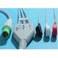 China Siemens SC7000 / 8000 ECG Patient Cable 7 Pin Grabber / Snap 0.7lb Weight wholesale