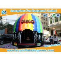 Buy cheap 6*5*4M Inflatable Bouncy House Disco Bouncer With Led Light And Sound from wholesalers