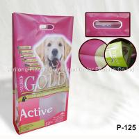 Cheap Heavy Duty Quad Sealed Side Gusset Bags For Pet Food Packaging With Hard Handle wholesale
