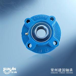 Ball Bearing Unit / Cast Iron Pillow Block Bearing With Locking Collar UELFC206 / HCFC206