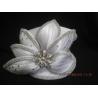 Cheap Satin Braid Ladies White Church Hats , Mushroom Crown With Small Peaks Shape wholesale