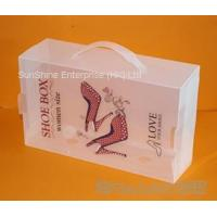 Cheap plastic shoe box wholesale
