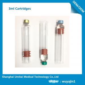 Multi Function Insulin Pen Cartridge 3ml For Insulin Pen Top Cap Plunger