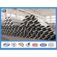 China Q345 Material 35FT 3mm Thick Hot Dip Galvanized Electric Steel Poles wholesale
