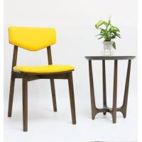 Buy cheap Contemporary Restaurant Furniture Wood Dining Chair with Microfiber Leather Seat from wholesalers