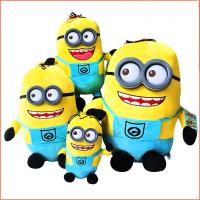 Cheap Lovely Despicable me 2 Minion with 3D eye Cartoon Plush Toys For Promotion Gifts wholesale