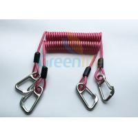 China High Strength Strong Coil Tool Lanyard Transparent Red PU Material Cover wholesale