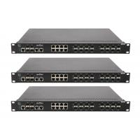 16 megabit FX SFP ports ,8 megabit TX ports , 2 gigabit TX ports and 2 gigabit SFP ports network switch