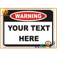 Custom Printed Reflective Traffic Warning Signs for Danger Caution Workplace