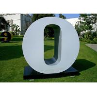 China Letter O Garden Free Standing Sculpture Large Stainless Steel letter Sculpture wholesale