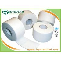 Cotton White Athletic Tape For Trainers Strapping , Adhesive Sports Wrap Tape