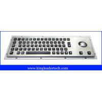 Cheap Backlight panel mount illuminated metal keyboard with optical trackball MKB-64A-TB-BL wholesale