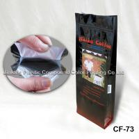 Cheap Blocked Bottom Stand Up Zipper Pouch, Coffee Packaging Bags With Valve wholesale