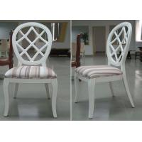 Buy cheap Restaurant Streak Fabric Upholstery Modern Dining Room Chairs With Round Back from wholesalers