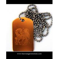 Cheap custom shape stainless steel blank dog tag with holes stamped punch out wholesale