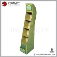 Cheap promotion cardboard display, cardboard floor display, cardboard books display for retail wholesale