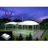 Badminton Gymnasium Tensile Fabric Canopy , Cable Stayed Membrane Playground Covers Canopy