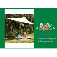 Outdoor Sail Sun Shade Net , Beige Triangular Sail Shade Netting For Gardens